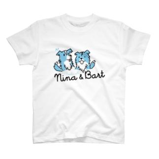 【nina&bart】仲良し姉弟 T-shirts