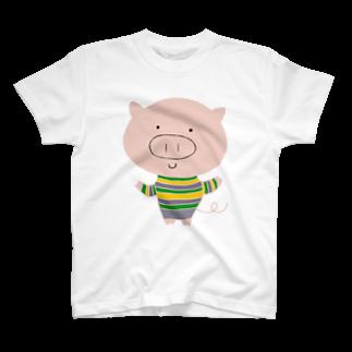 tankovuのおだやかブーちゃん T-shirts