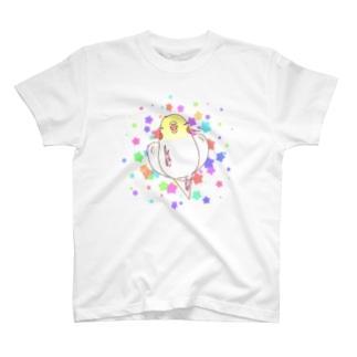 はっぴーおかめ(ルチノー) T-shirts