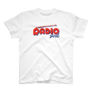 ねこぜもんのRADIO girl T-shirts