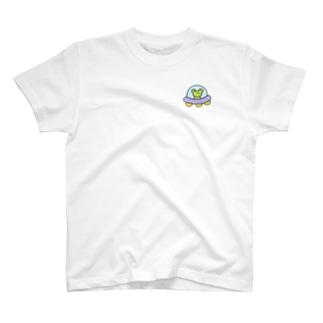 わがはいはかえるである ワンポイント T-shirts