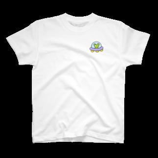 みずしまワークスのわがはいはかえるである ワンポイント T-shirts