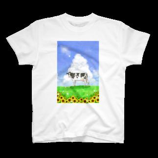 牛絵屋の夏うし T-shirts
