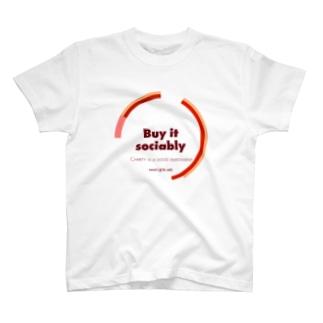buy it sociably Tシャツ