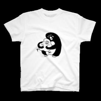 mugny shopの大きなペンギン T-shirts