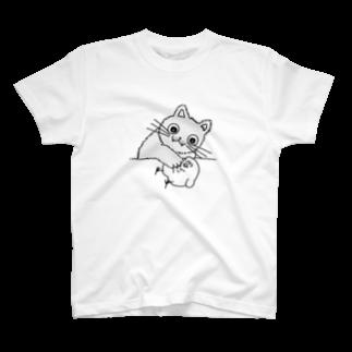 mugny shopの子猫ちゃん T-shirts