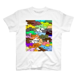 HANADAKE NINGEN迷彩マルチカラー T-shirts