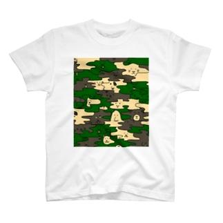 HANADAKE NINGEN迷彩 T-shirts