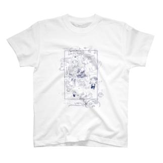 かめしがき青 T-shirts