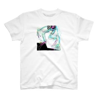 avant-garde swimmer T-shirts