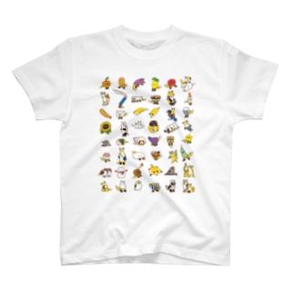キツネといろはにほへと T-shirts