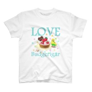 セキセイインコらぶ3(イエローハルクイン) T-shirts