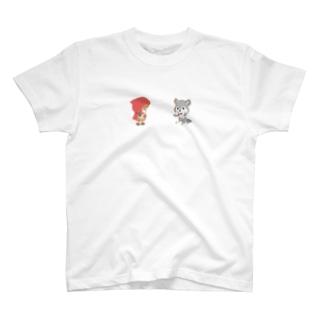 赤ずきん【赤ずきんとオオカミ】 T-shirts