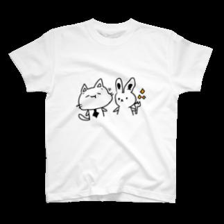 にゃんひー屋のもぐもぐにゃんひー T-shirts