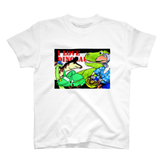 半紙半生の恐竜大喜利 T-shirts