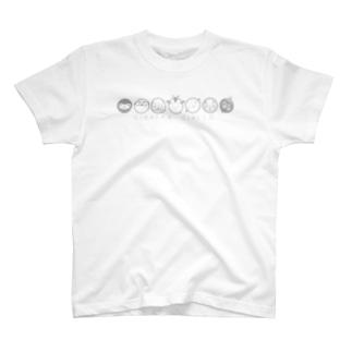 6連アニマルズ グレー T-shirts
