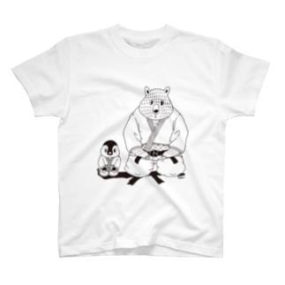白黒道場-柔道 Tシャツ