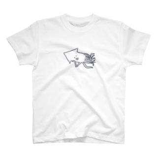 ねそべるいか T-shirts