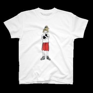 窓の猫を抱く Tシャツ