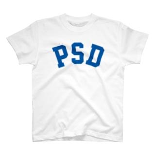 PSD(青) T-shirts