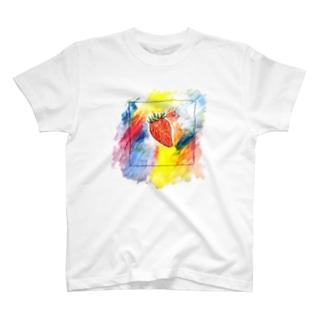 ハルの苺は鮮やかに T-shirts