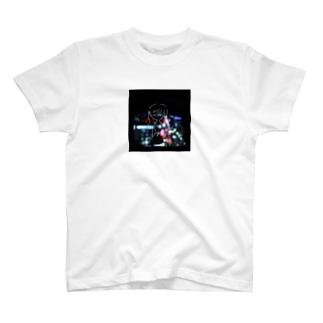夜景と女の子 T-shirts
