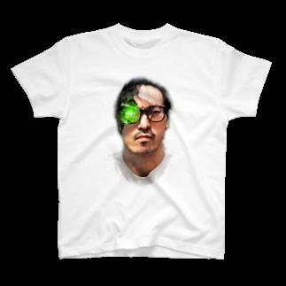 白と水色のカーネーションストアのすずき(アンドロイド柄) T-shirts