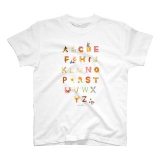 アルファベット朝ごはん T-shirts