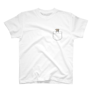 上からひょっこりイタグレちゃん T-shirts