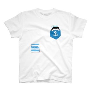 水兵さんブルー T-shirts