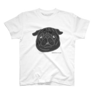 黒パグちゃん T-shirts