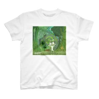 かえる先輩と謎の森 T-shirts