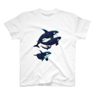 gomaphのシャチ群れ Tシャツ