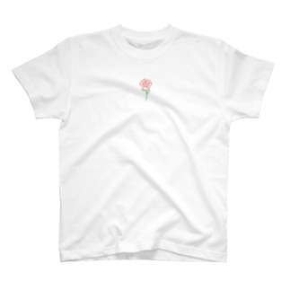赤いバラ(小さめ) T-shirts