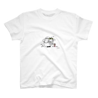 トウモロコシ農家おばけ T-shirts