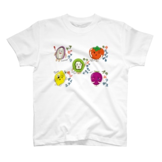 フルーツ4-fruits and vegetables word chain-ベジフルしりとり- T-shirts