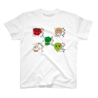 ベジタブル2-fruits and vegetables word chain-ベジフルしりとり- T-shirts