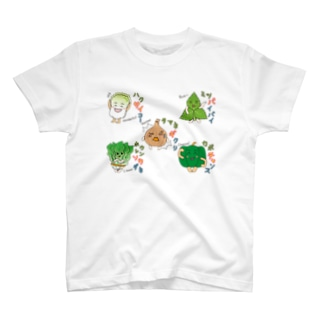 ベジタブル4-fruits and vegetables word chain-ベジフルしりとり- T-shirts