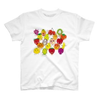 フルーツALL-fruits and vegetables word chain-ベジフルしりとり-  T-shirts