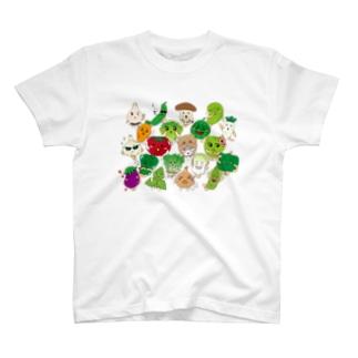 ベジタブルALL-fruits and vegetables word chain-ベジフルしりとり- T-shirts