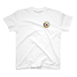 豆柴ビーン丸ワッペン T-shirts