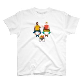 T16.焚火おじさん Tシャツ