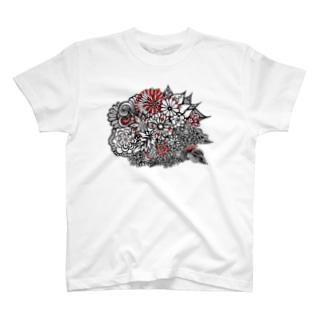 BENITANGLE赤黒* T-shirts
