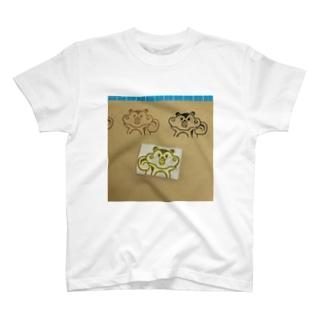 リスの消しゴムはんこ T-shirts