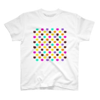 ねこドット T-shirts