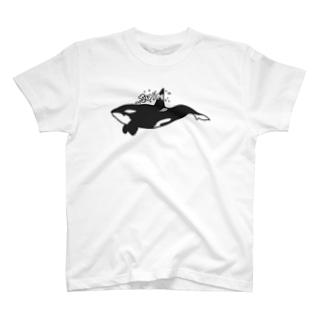 シャチ スイム T-shirts