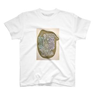 ヒョウのかたまり T-shirts