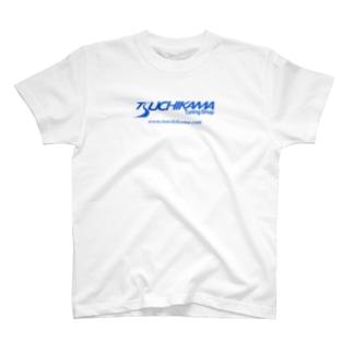 ツチカマロゴ ブルー T-shirts