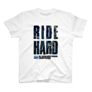 G-NET OFFICIAL GOODS RIDE HARD BLUE T-shirts
