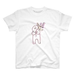 お花とごりぶた T-shirts